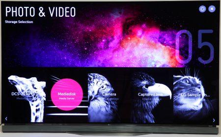 En Ultra HD-tv kan även visas för att visa stillbilder riktigt högupplöst. Och LG OLED 65E6V gör det verkligen storstilat med sin inbyggda bildvisningsfunktion. Det är en upplevelse i sig att se sina foton i 4K-upplösning över 65 tum.