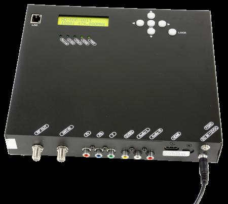 Macabs DIM-50 är en hdmi-modulator som omvandlar hdmi, komponent och komposit till en DVB-T-signal.