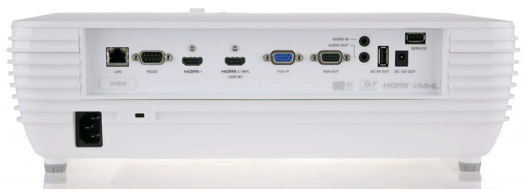 Dubbla HDMI-ingångar där båda klarar att hantera 4K-upplöst material.