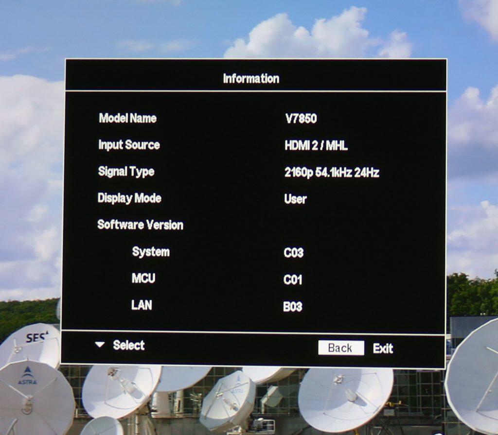 Acer V7850 spelar gladeligen upp högupplöst material oavsett om det är i 24, 25, 30, 50 eller 60 bilder per sekund.