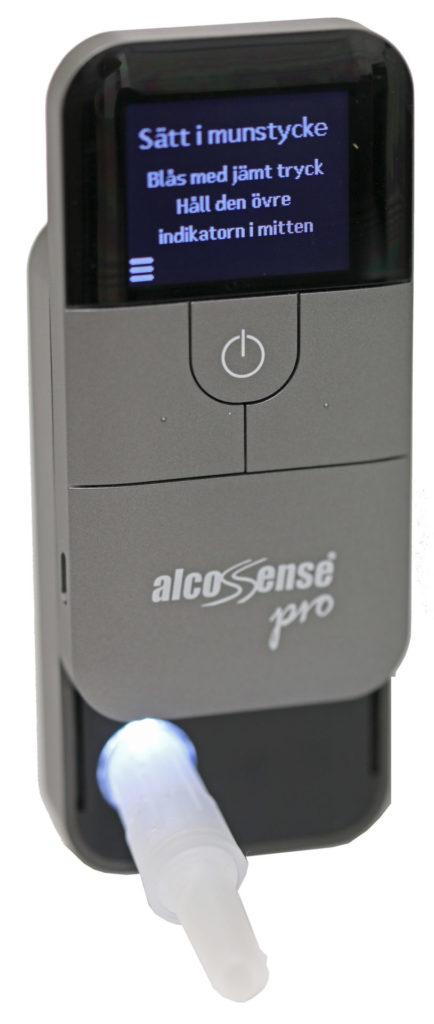 AlcoSense Pro är självförklarande enkel att använda.