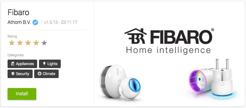 Athoms Fibaro-app ger bra stöd för Fibaros smarta hem-prylar i Homey.