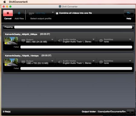 Med VLC Media Player och DivX Converter kan du (ibland) även konvertera till HEVC-filmer. Våra försök slutar dock oftast med att något går fel.