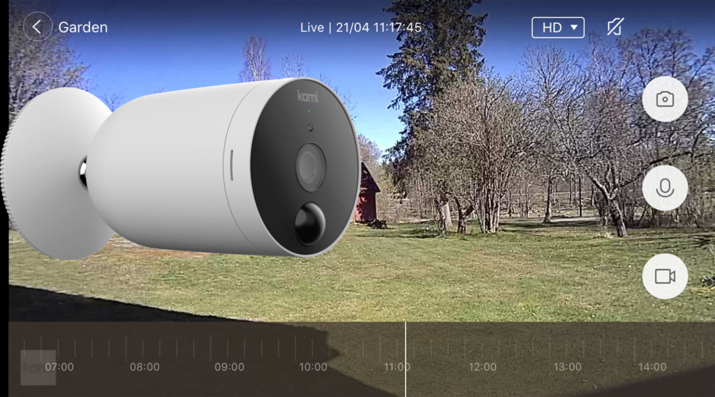 Kami Wire-Free Outdoor Camera är helt trådlös, app-styrd utomhus/övervakningskamera med riktigt imponerande batteritid!