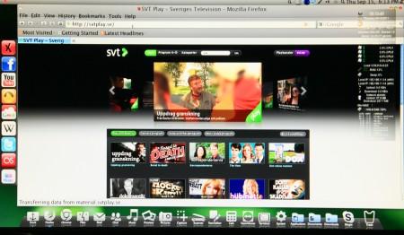Med ett riktigt operativsystem i Ultra kan du använda webbläsaren för att se på exempelvis SVT Play på teven.