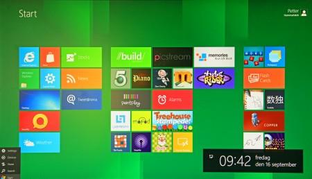 Windows 8 i utvecklarversion i Xtreamer Ultra.