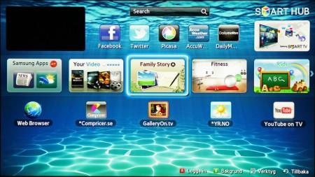Smart Hub är en portal där Samsung samlat onlineutbudet.