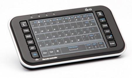 Som mediespelare räcker TizzBirds fjärrkontroll långt men vi rekommenderar varmt minitangentbordet Air Kit eller liknande för bästa funktion i Android.