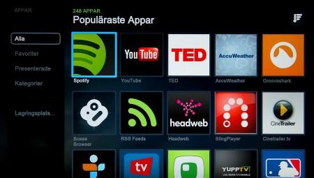 Boxee Box innehåller i dagsläget 248 olika appar.