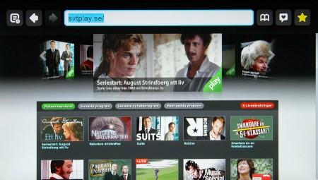 SVT Play i Boxee Box webbläsare.
