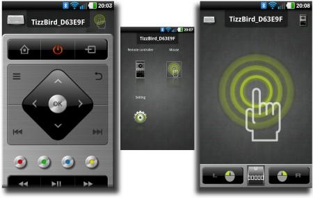 Appen TizzRemote finns ännu så länge bara till Android, men kan å andra sidan ersätta både den medföljande fjärren och i viss mån även ett minitangentbord som Air Kit.