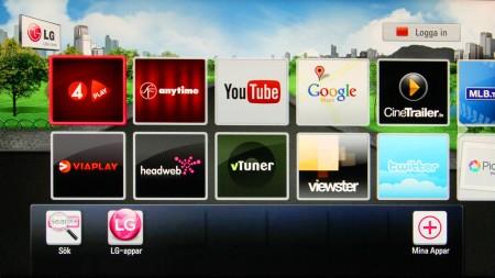 Online-utbudet i HR925N är det samma som i många bättre teve från LG med en hel del svenska tjänster.