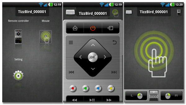 TizzBirds Android eller Iphone-app TizzRemote