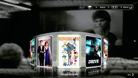 TizzBird F13 har en mängd olika sätt att presentera filmutbudet på.