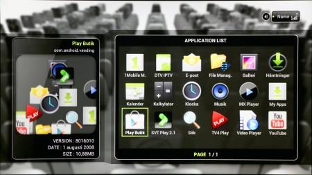 Med TizzBird F13 får du tillgång till alla appar som finns för Android 4. Och webbläsare.