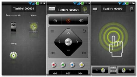 TizzRemote är TizzBirds mobilapp som gör det möjligt att styra medieboxen med en smartphone (finns för Android och Iphone).
