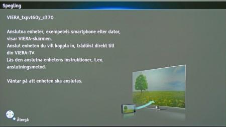 Spegling är en ny och mycket intressant funktion som Panasonic byggt in i teven. Tekniken kallas Miracast som du kan läsa mer om här på nytestat inom kort.