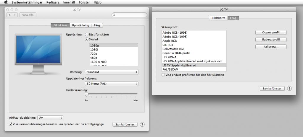 I OS X har du lika stora möjligheter att styra tv:n som i Windows.