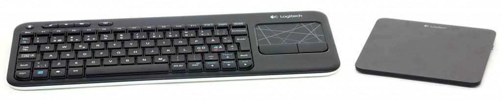Det följer inget tangentbord, mus eller styrplatta i priset för NUC. K400 är ett bra alternativ från Logitech som kostar cirka 300 kr. Styrplattan jämte är dyrare men kan många intressanta konster.