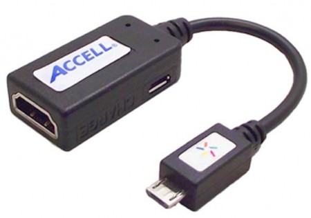 Med en MHL-adapter som denna kan du koppla in och visa mobilens innehåll via hdmi.