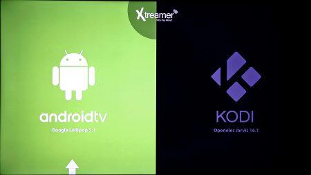 Xtreamer mxV Pro har dubbla operativsystem och du måste välja ett av dem vid varje start.