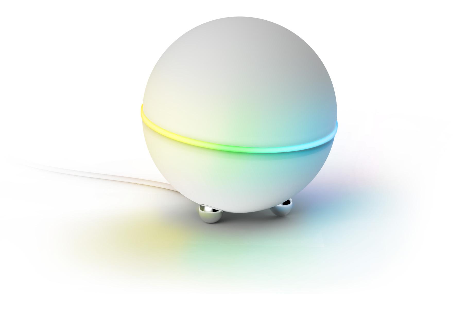 Homey V2 – Athoms mobilanpassade, smarta hemsystem har flera magiska krafter och kan även signalera med ljus.