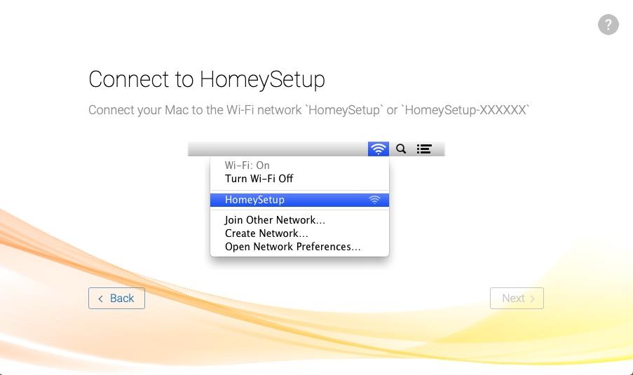 Även kom igång-hjälpen har blivit ännu enklare, men det krävs en webbläsare via wifi för att först ansluta sig till Homeys wifi och sedan ge Homey tillgång till ditt trådlösa hemnätverk.