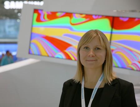 Jenny Fisher-Toivo, produktchef för ljudprodukter på Samsung AB