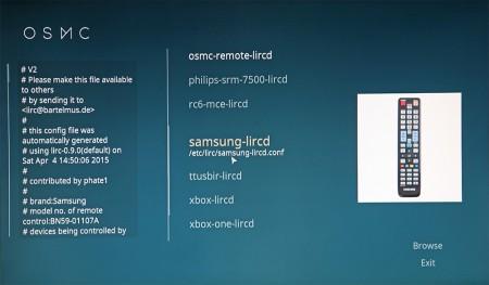 I Kodis systeminställningar kan man välja till externa fjärrkontroller – allt från Apple TV:s lilla fjärr till Samsungs kompletta tv-fjärr.
