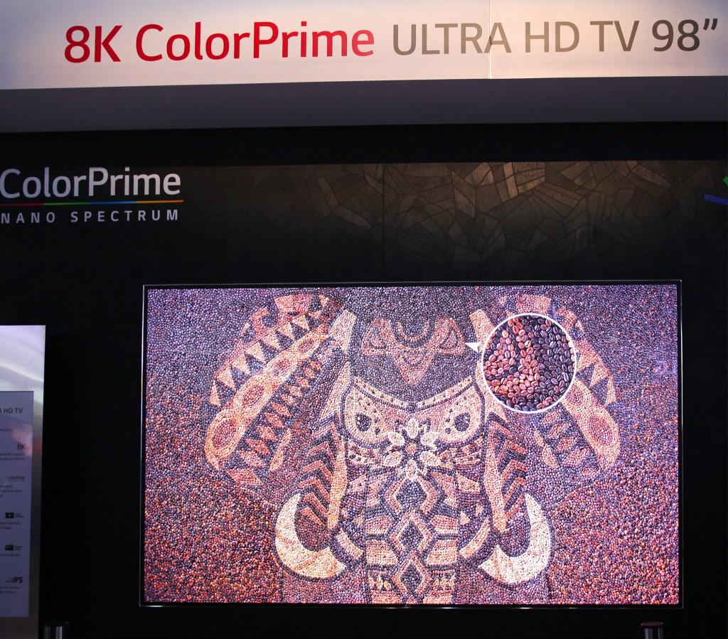 LG:s 98-tums 8K-tv, nu även med Color Prime, det vill säga en större färgrymd jämfört med dagens hdtv.
