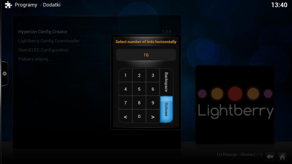 Med hjälp av styrprogrammets inställningar anpassar du LED-slingans ljusåtergivning efter din tv:s storlek. Det görs i en guide där du får ange hur många led som finns på tv:ns sidor, var slingan börjar och vilket håll den är dragen.