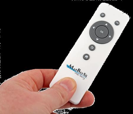 MeeBoss fjärrkontroll gör det enkelt att använda den även till annat, som mediespelare.