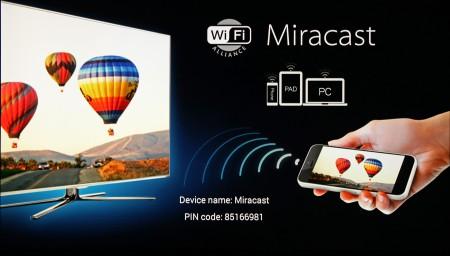 Med inbyggt Miracast-funktion kan du dessutom spela upp innehåll från telefonen på tv:n via Mele-boxen.