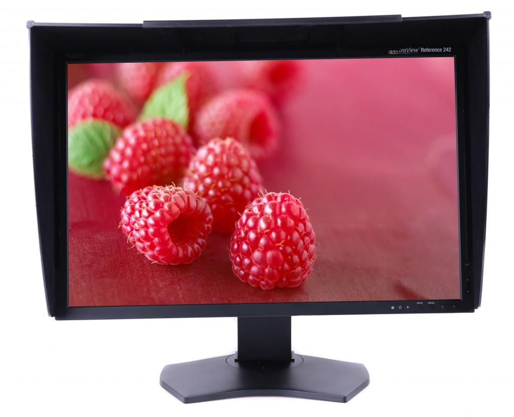 Med NEC SpectraView 242 Reference anpassar du skärmens höjd steglöst efter hur du vill ha det.