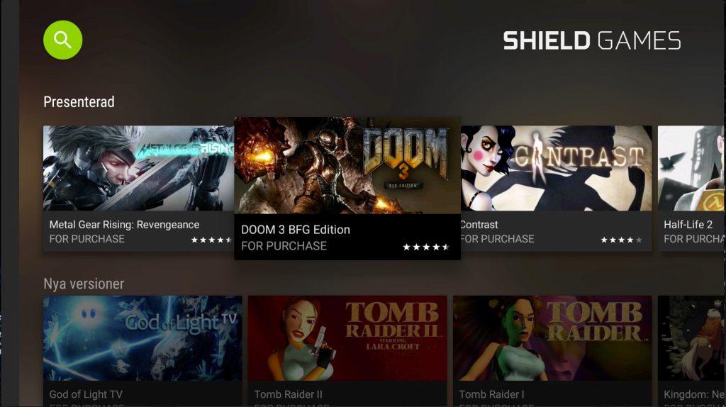 Shield Games är Nvidias tjänst för nedladdningsbara spel. Och då kan du behöva bygga ut lagringskapaciteten via usb-minnen som formateras.