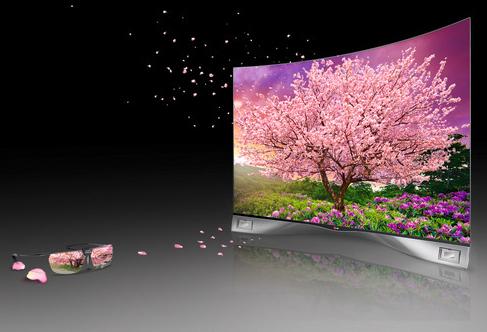 Dagens led-tv och lcd-teknik har svårt att återge mycket mer än dagens hd-färgrymd, men OLED-tekniken ger nya möjligheter till fler färger. Här är LG:s OLED-tv 55EA980W.