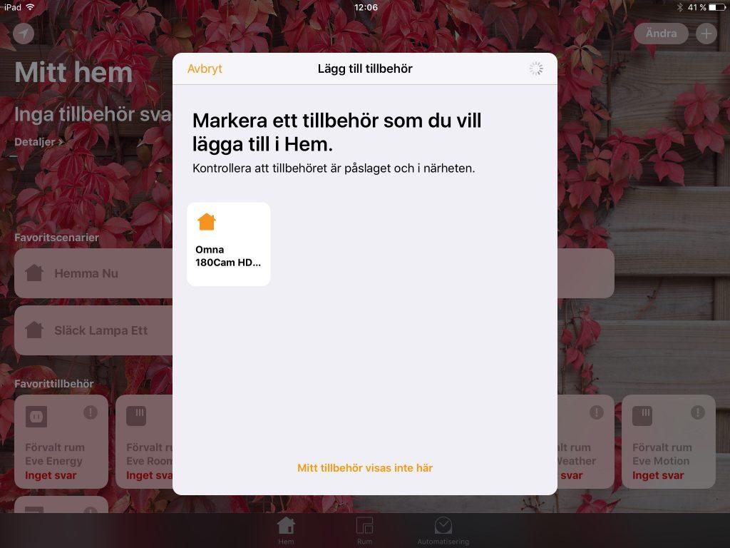 Apple HomeKit gör det synnerligen enkelt att installera nya prylar. Klicka, godkänn och ange prylens nummer – klart!