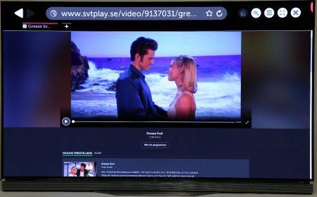 Det går fint att titta på SVT Play direkt med tv:ns inbyggda webbläsare.
