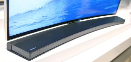 Samsungs böjda soundbar HW-H7500.