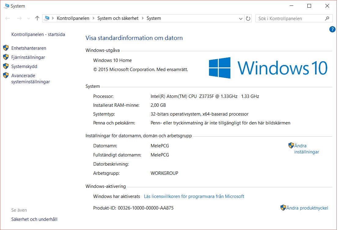 Windows 8.1 ingår, inklusive fri uppgradering till Windows 10. Och det funkar riktigt bra.