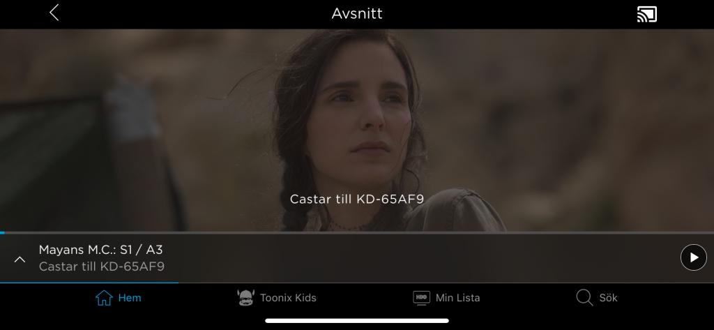Jodå, visst kan du titta på HBO Nordic också genom att strömma från en annan enhet. Du kan strömma till tevens inbyggda Chromecast.