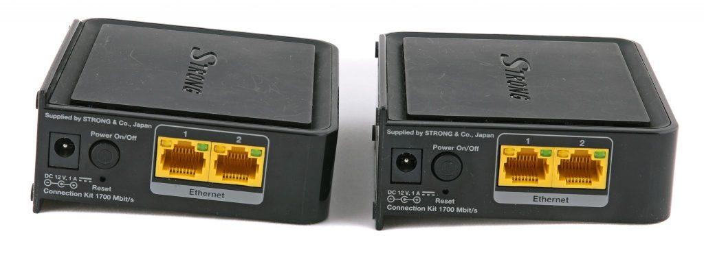 Två 1 Gbit/s Ethernet-anslutningar ger möjlighet till riktigt snabba anslutningar i båda ändar av den snabba, trådlösa bryggan.