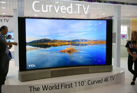 Världens största, böjda 4K-tv är på 110 tum och kommer från TCL.