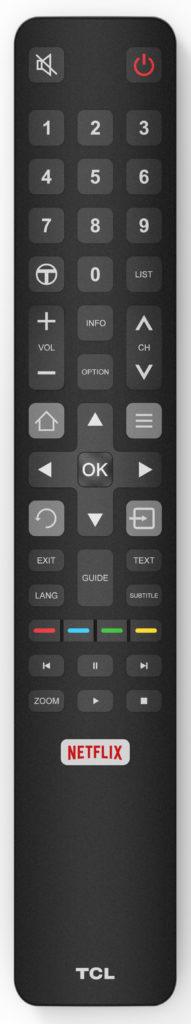 TCL:s fjärrkontroll är elegant utformad, men svår att känna sig fram på. Bakbelysning och mikrofon för röststyrning saknas i fjärren som pratar IR med tv:n.