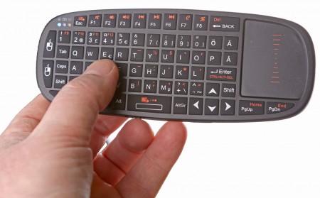 Minitangentbordet rekommenderas för Android-tjänster där det ska skrivas, klickas och svepas.