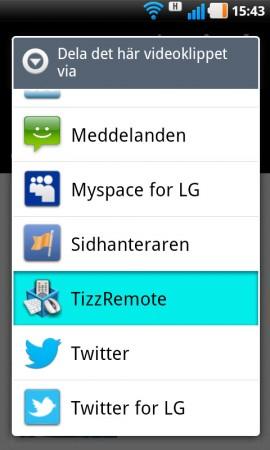Med TizzRemote kan du spela upp exempelvis en Youtube-film trådlöst på tv:n från din Android-telefon eller surfplatta.