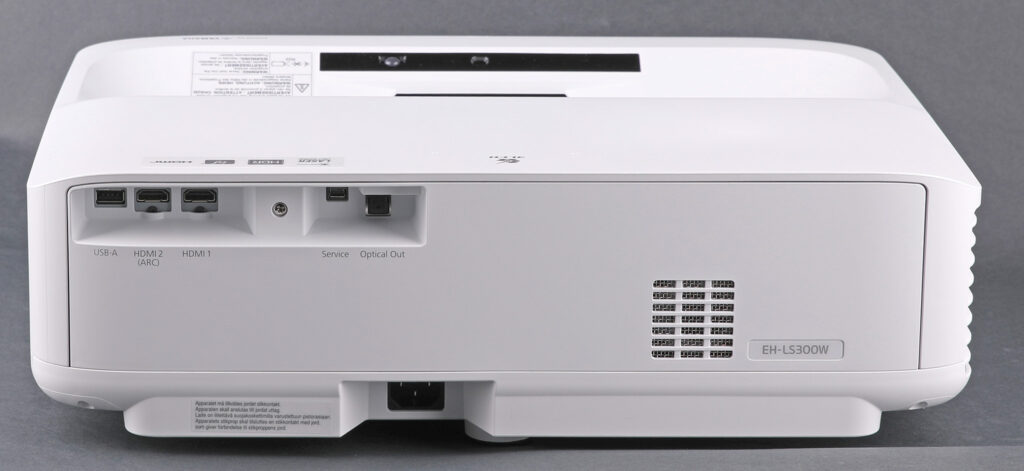 Dubbla hdmi-ingångar varav en med ARC, analog och digital ljudutgång samt USB för enkel anslutning av mer underhållning gör Epson EH-LS300W till en komplett underhållare. Vad W:et står för i EH-LS300W? White. I svart utförande heter modellen EH-LS300B.