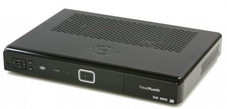 Pace-mottagaren (TDS850NV) som både kan ta emot och spela in hd-kanaler från satellit och hämta VOD via bredband.