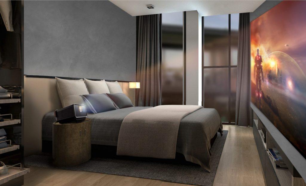 TV i sovrummet? Näää, bättre upp! Foto: ViewSonic