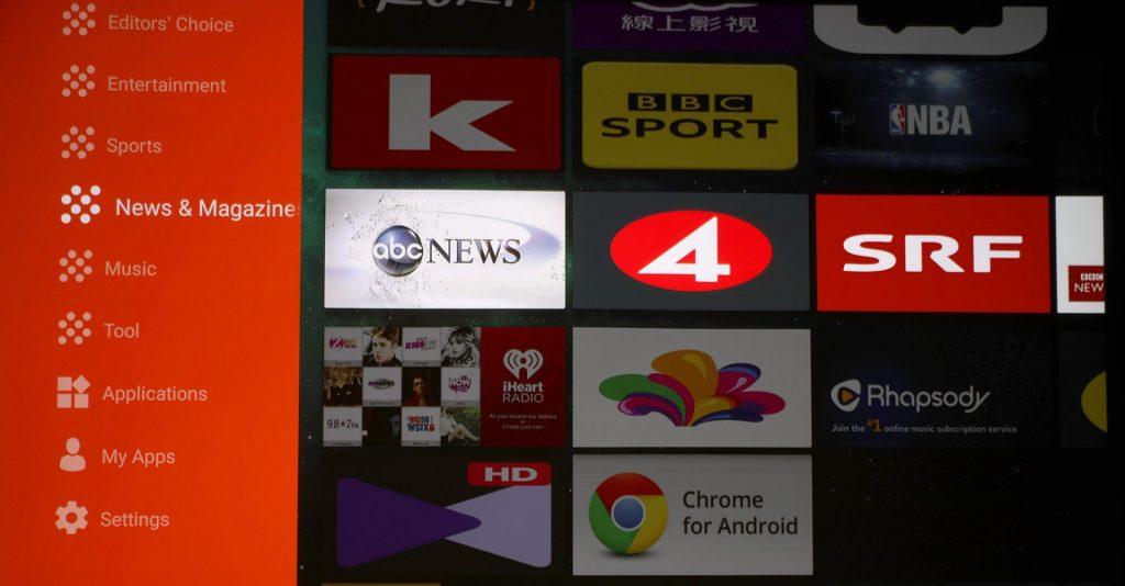 Aptoide TV är integrerat i X10 som därmed kan spela upp mycket underhållning helt på egen hand.